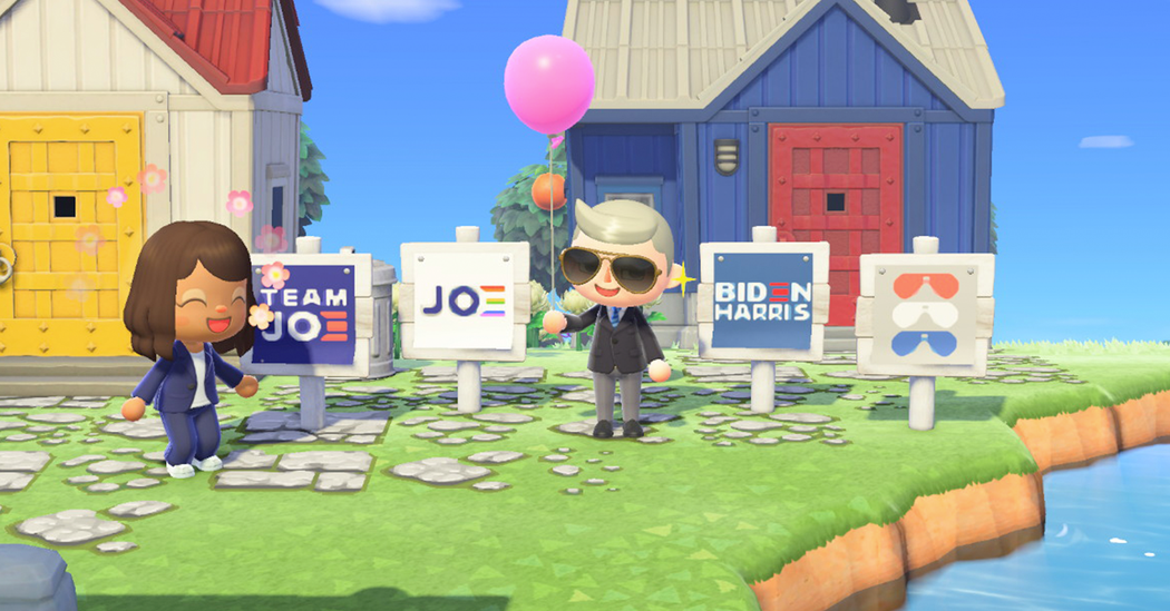 Biden Campaign Courts the Animal Crossing Vote With Yard Signs