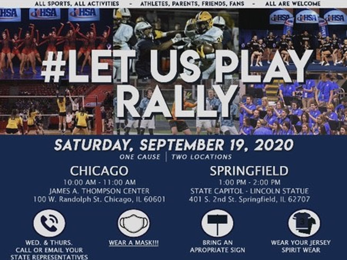 Let Us Play protest rally livestream