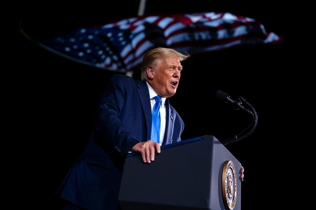 President Trump ties Biden to Virginia governor at rally in effort to portray Dem as extreme