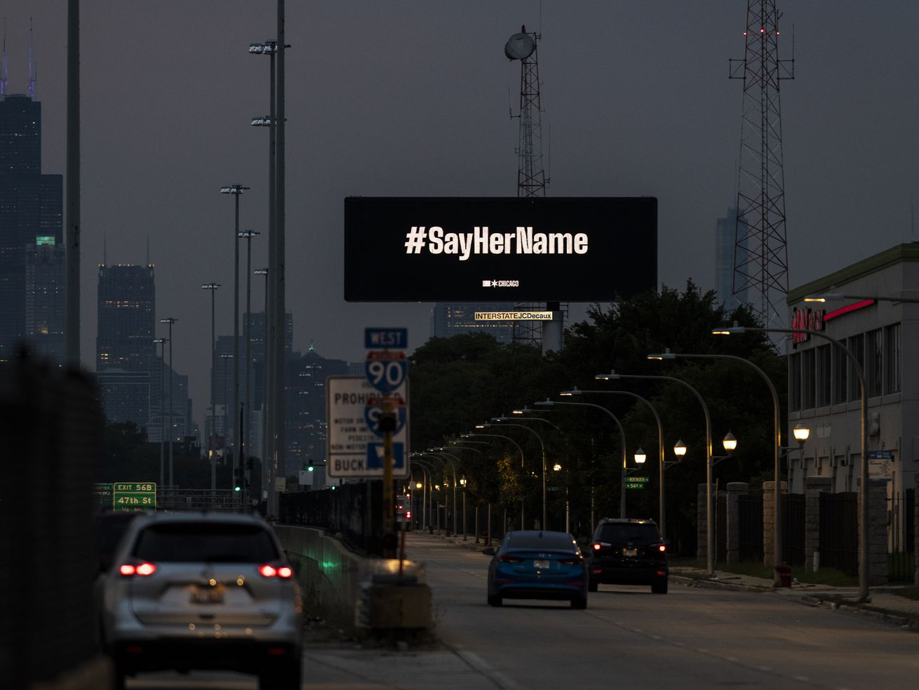 Lightfoot defends using electronic billboards to display #SayHerName message honoring Breonna Taylor
