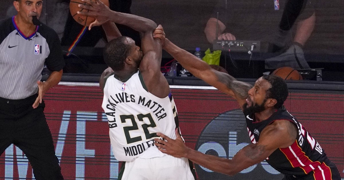 NBA playoffs: Bucks fend off elimination by beating Heat in overtime