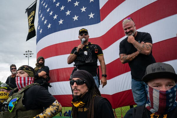 The Proud Boys, Who Trade in Political Violence, Get a Boost From Trump