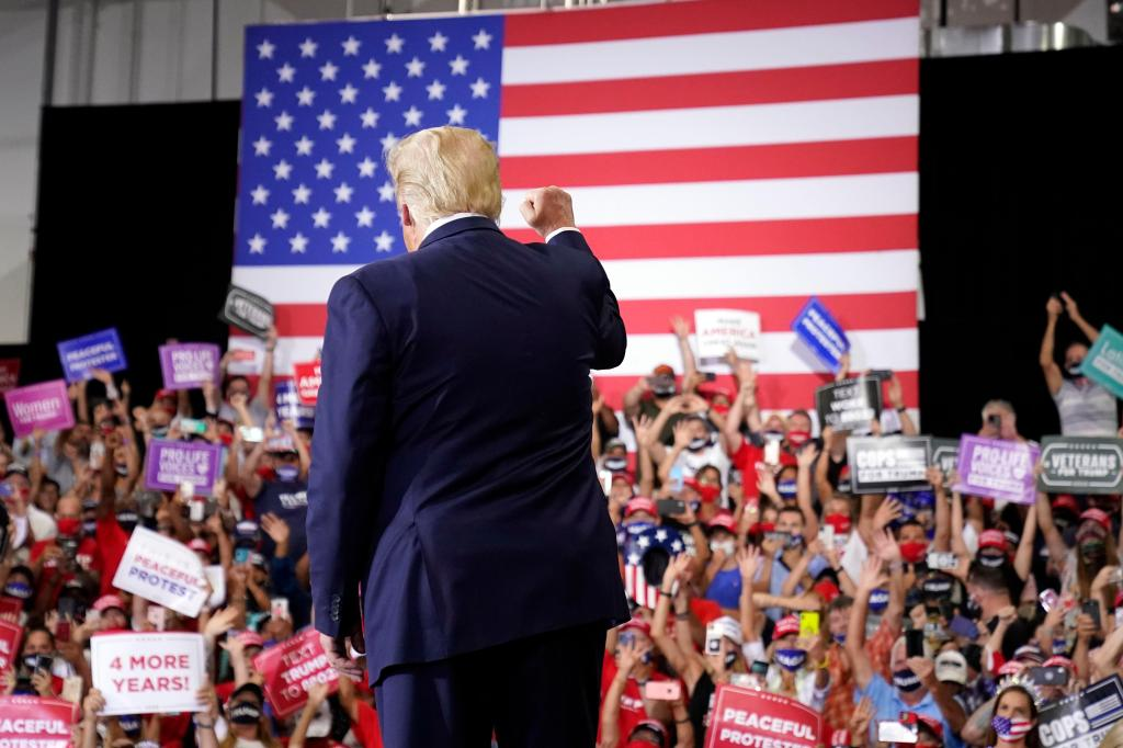Trump holds packed indoor rally, in defiance of Nevada governor