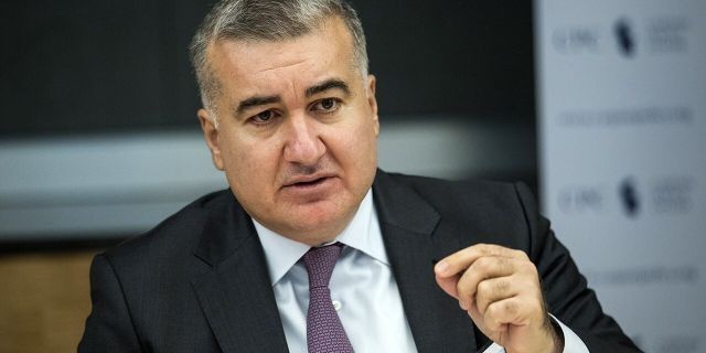 """The Azerbaijani ambassador to the U.S., Elin Suleymanov, seen here in November 2017, told Fox News in 2019 the conflict between Azerbaijan and Armenia was """"very strategically dangerous."""""""