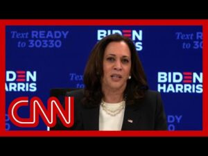 Hear Kamala Harris' reaction to Trump and Biden's chaotic debate