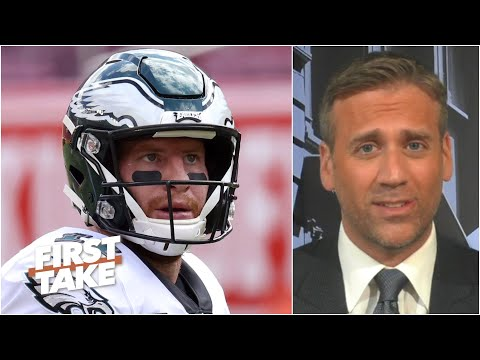 Max Kellerman is baffled by Carson Wentz's decisions in the Eagles' loss to Washington | First Take