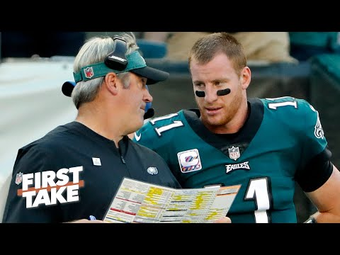 Max Kellerman breaks down the power struggle between Carson Wentz and Doug Pederson | First Take