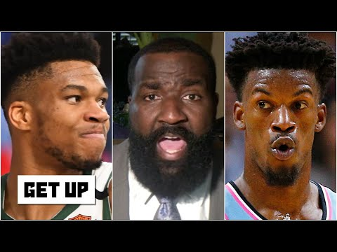 Kendrick Perkins calls out DPOY Giannis for not guarding Jimmy Butler: Are you kidding me? | Get Up