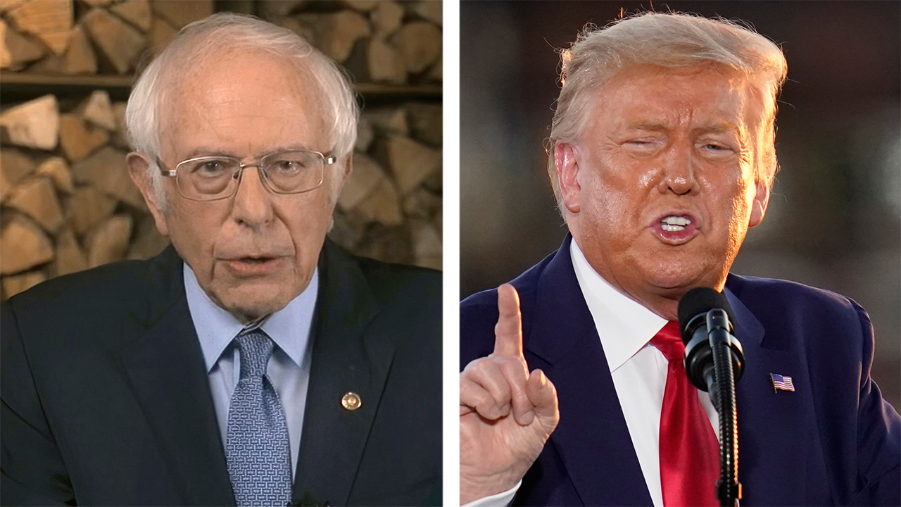 Sanders charges Trump is aiming to 'de-legitimize' election through 'massive voter suppression'