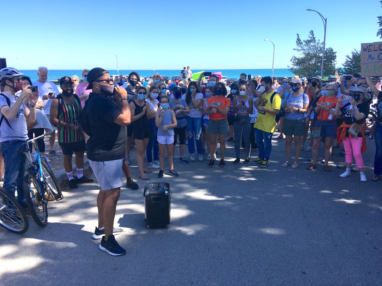 North Shore rallies for man told to leave pier because he's Black: 'It shouldn't happen anywhere'