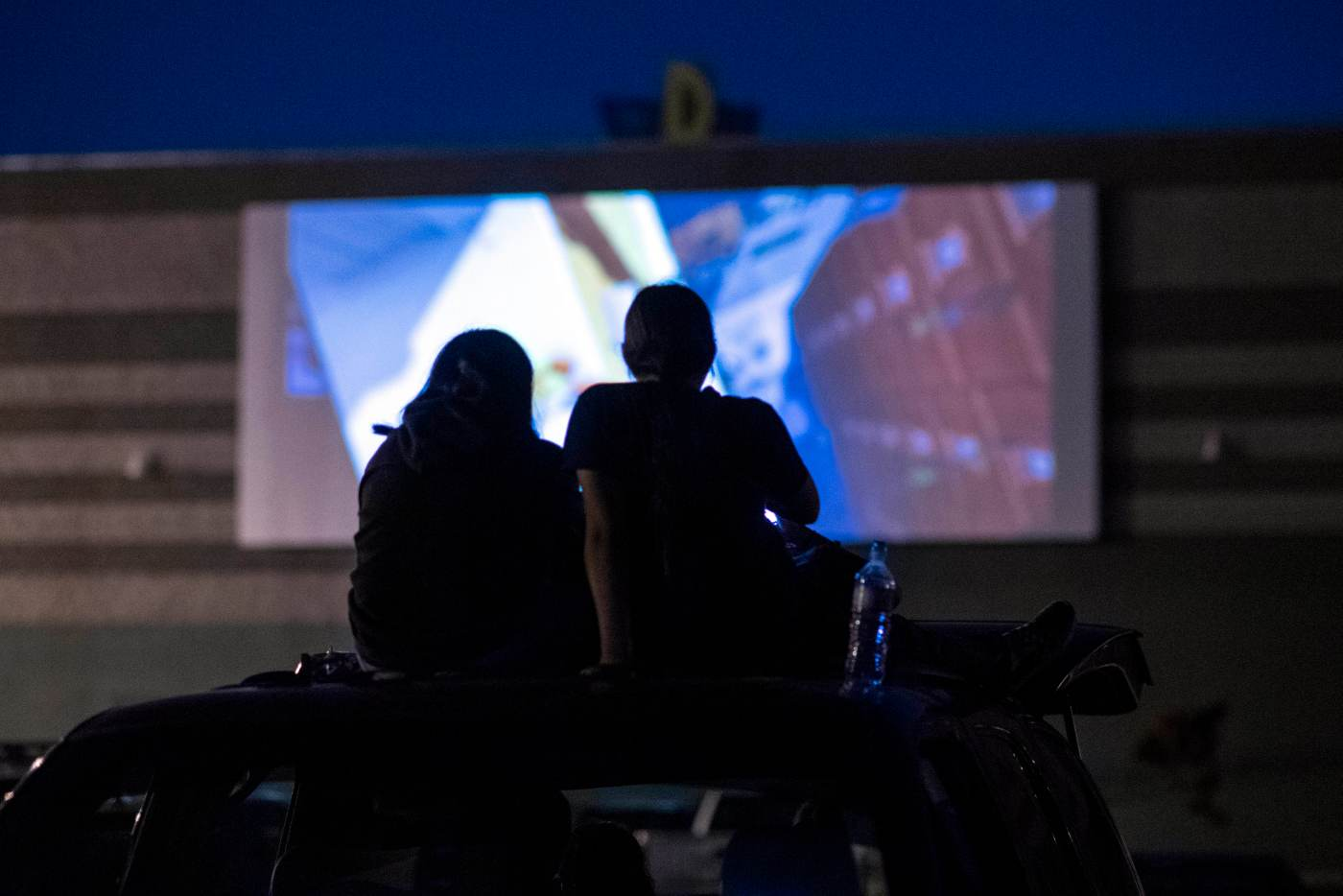 Photos: Drive-in movies back for long, hot holiday weekend