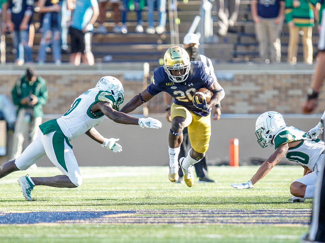 Notre Dame breezes to a 52-0 romp against South Florida