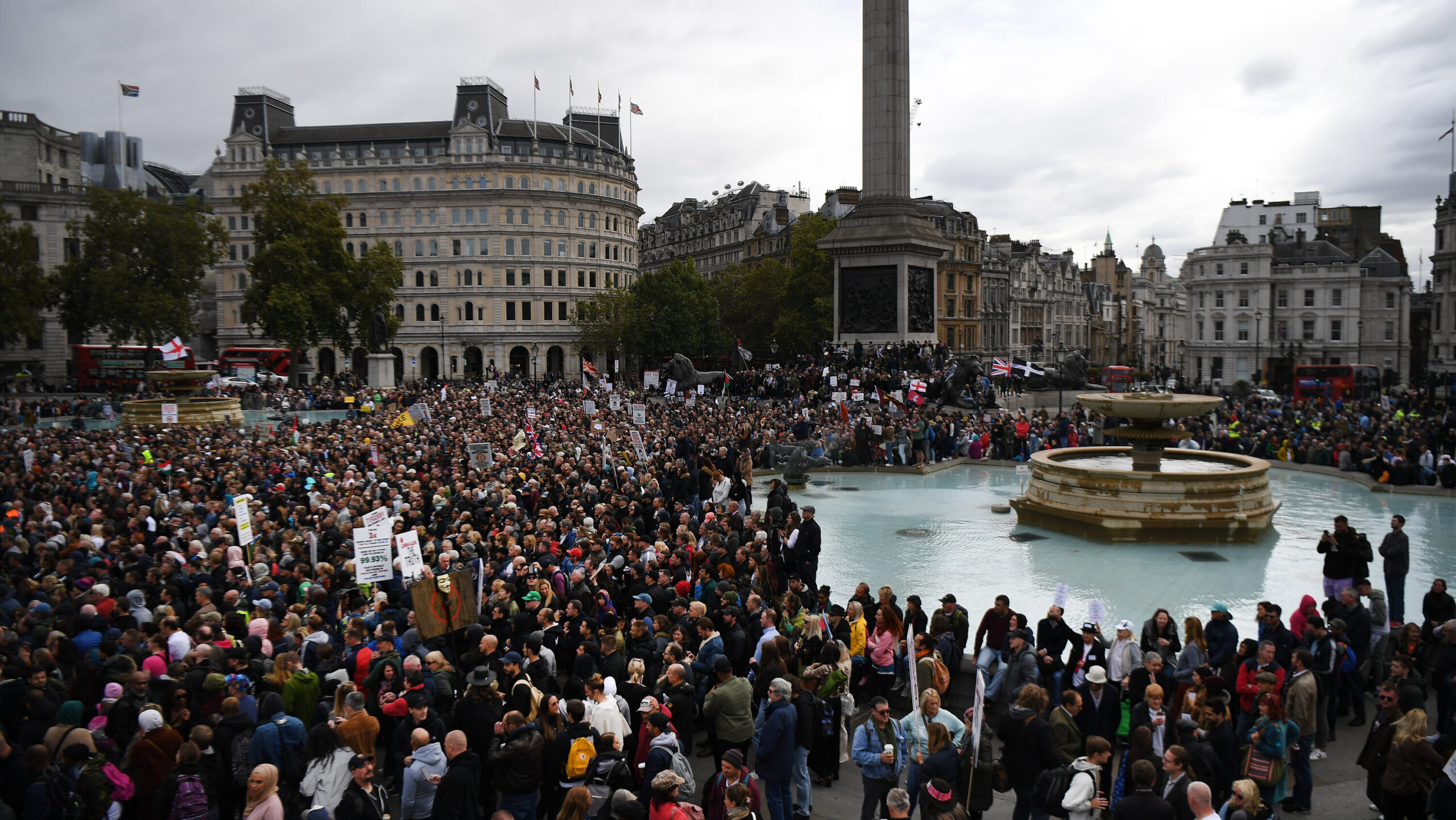 Covid-19 Live Updates: Thousands Protest Lockdown Measures in London