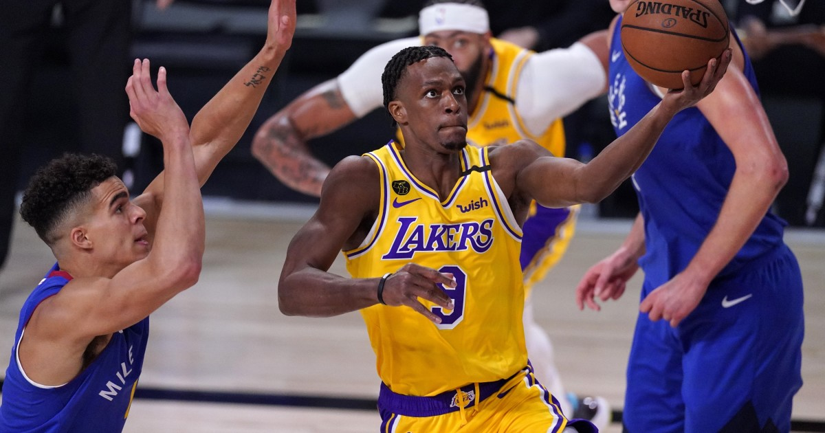 Column: Lakers get Game 1 boost from Rajon Rondo's playoff swagger