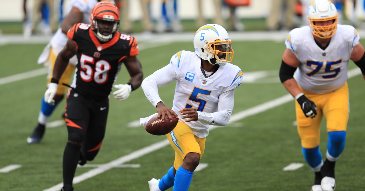 Chargers lean on defense and some final-minute luck to beat Bengals in opener
