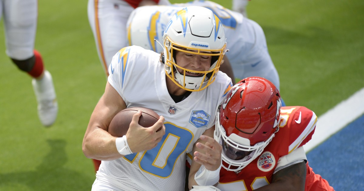 Justin Herbert starts for Chargers vs. Chiefs; Tyrod Taylor listed with chest injury