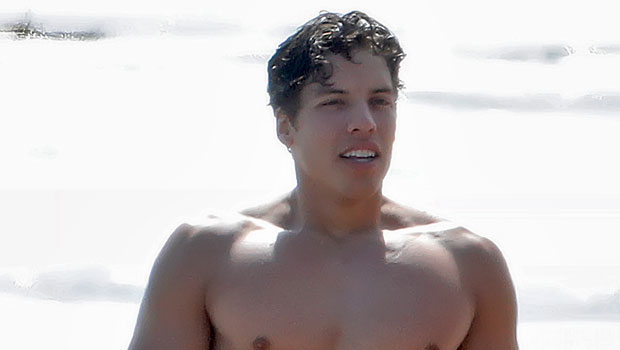 Arnold Schwarzenegger's Son Joseph Baena Pumps Up His Muscles In Shirtless New Video