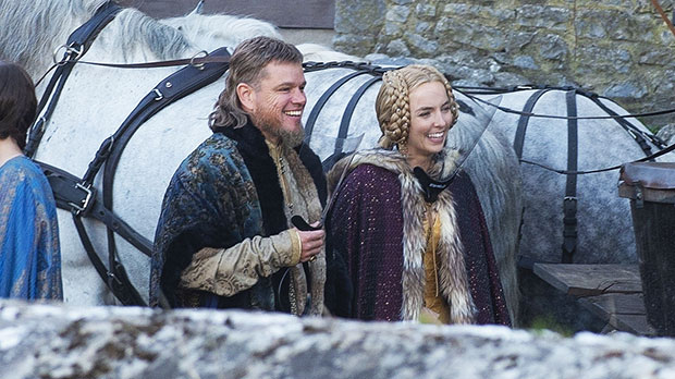 Matt Damon Is Unrecognizable With A Mullet & Beard On Set Of 'The Last Duel' With Jodie Comer