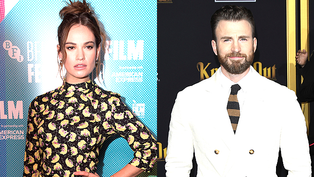 Lily James Refuses To Confirm — Or Deny — She's Dating Chris Evans In New, Candid Interview