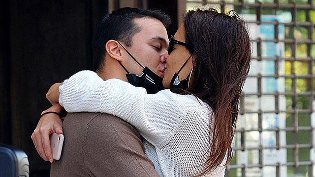 Katie Holmes Passionately Kisses New BF Emilio Vitolo Outside Of His NYC Restaurant — See Pics