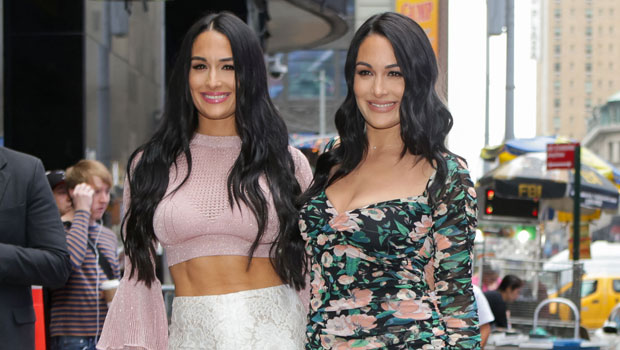 Nikki Bella Shares Side By Side Photos Of Her & Brie's Newborn Sons Smiling & Making Goofy Faces