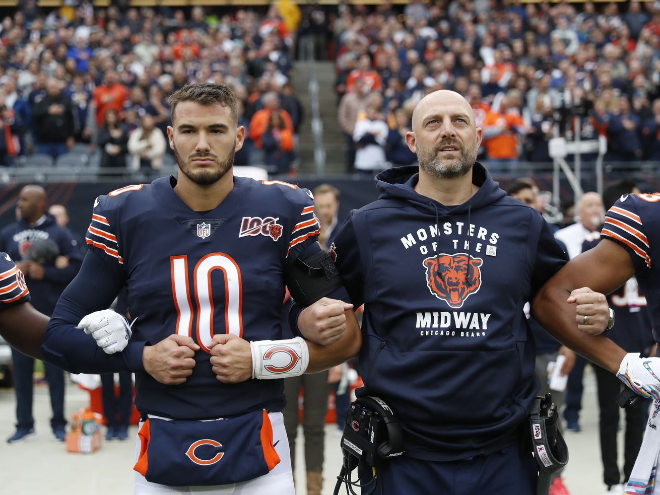 Bears coach Matt Nagy to stick with QB Mitch Trubisky for entire game vs. Lions