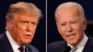 Debate: Trump brags about rally size as Biden calls president 'irresponsible'