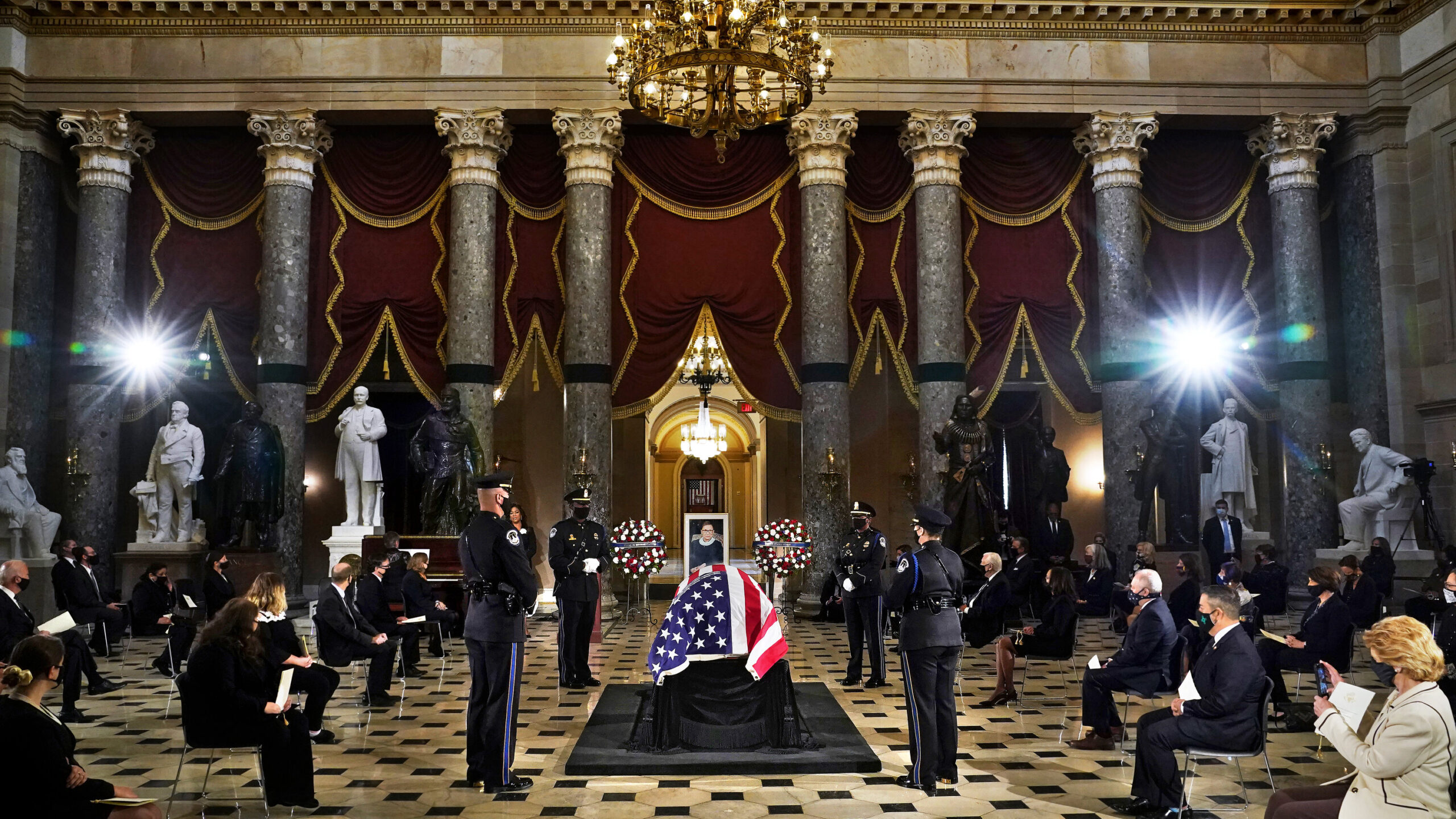 Watch live: Members of Congress and others pay their respects in Statuary Hall.
