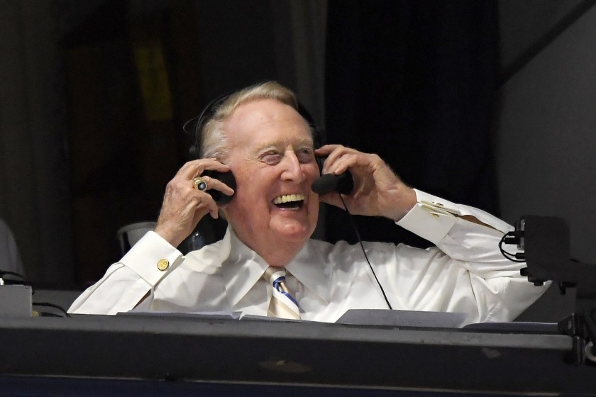 Plaschke: Why is Vin Scully jumping into social media at age 92? 'I miss the fans'