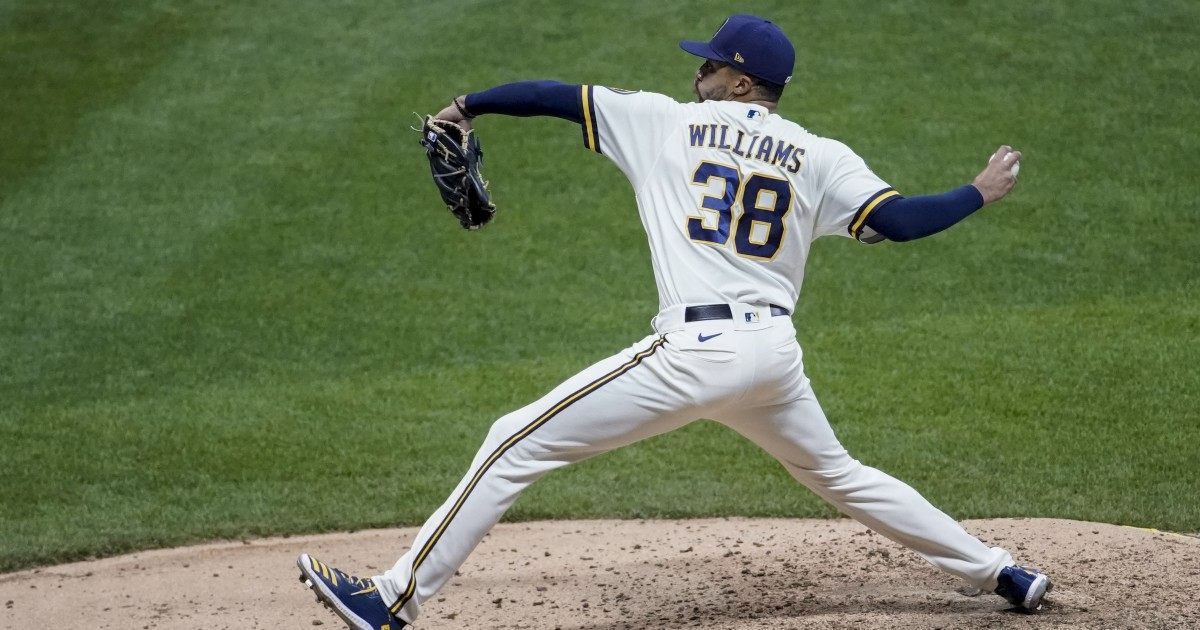 Brewers reliever Devin Williams and his 'Airbender' out for series against Dodgers