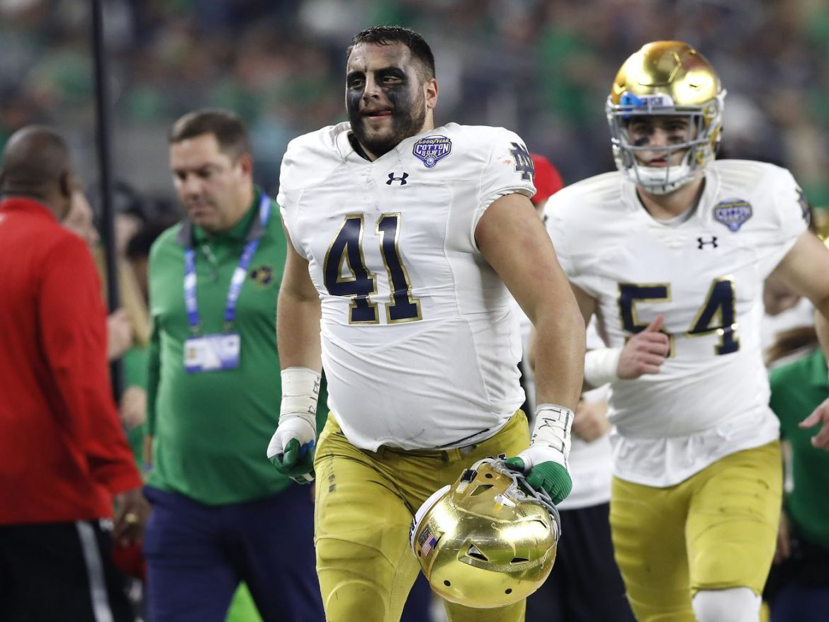 Notre Dame's Kurt Hinish loves to be in the middle of things