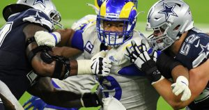 Every week, Rams' Aaron Donald plays like defensive player of year. Can he win again?