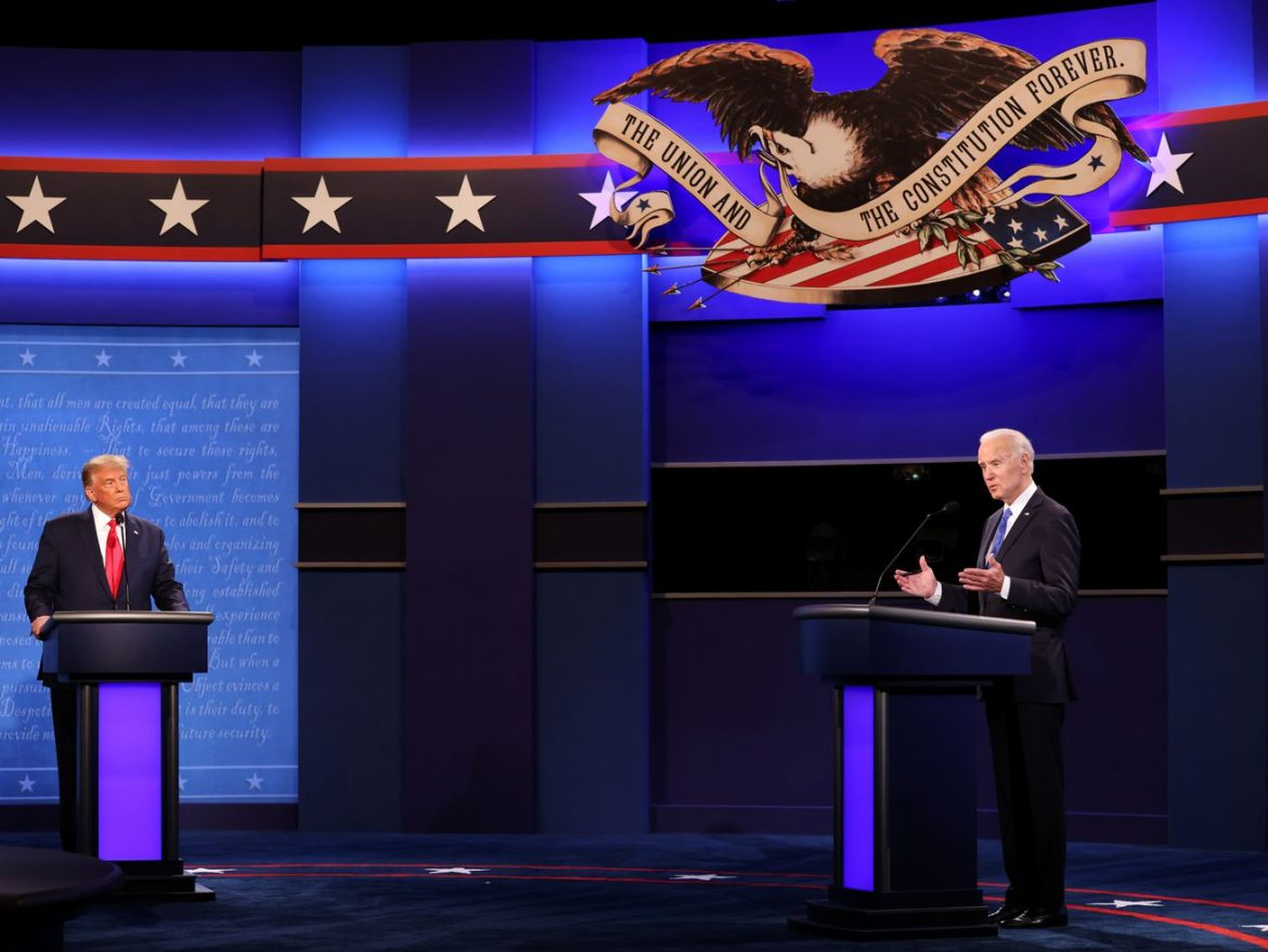 Trump, Biden square off for final debate before Election Day