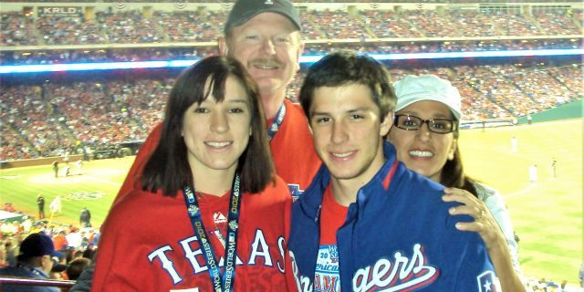 Happier Times: Trevor Reed with his family at the 2010 World Series