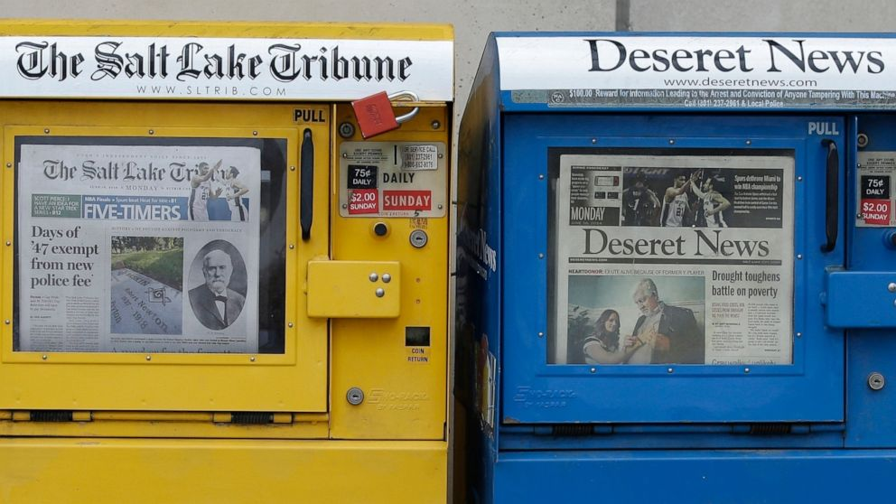 Both newspapers in Utah's capital to cease daily publication