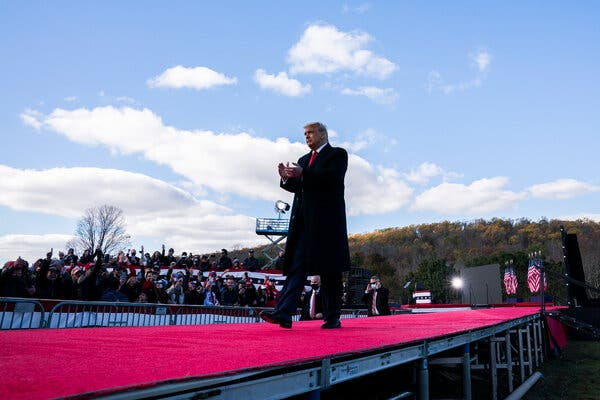 Trump and Biden Campaign in Pennsylvania and Michigan on Race's Final Weekend