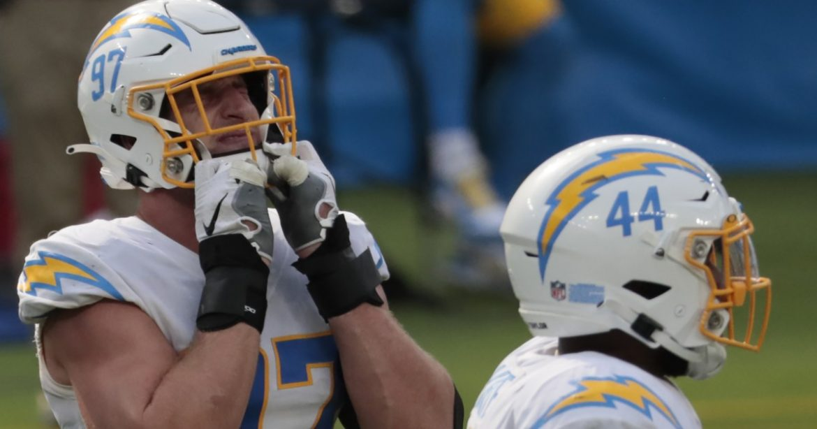 Beat up Joey Bosa not complaining about surprise week off. Chargers need healing too
