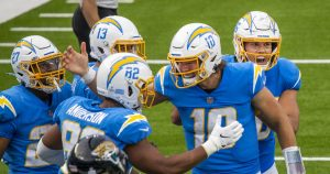 Chargers' 39-29 victory over the Jaguars by the numbers