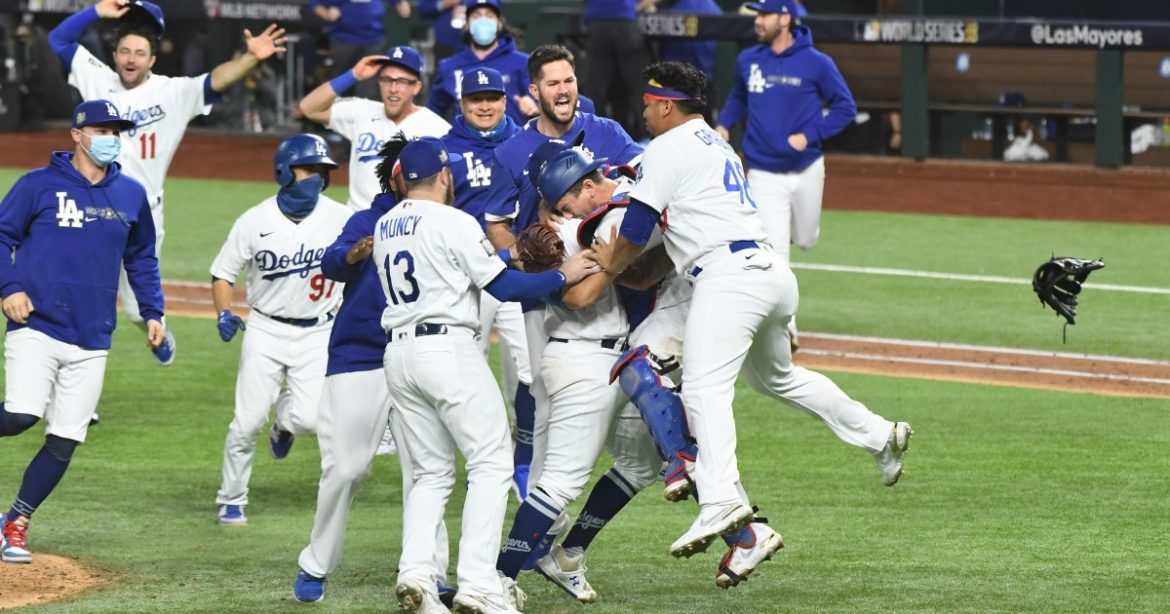 Photos: Dodgers defeat Rays to capture World Series title