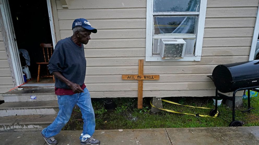The Latest: Louisiana gov vows hard work on storm recovery