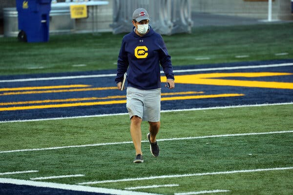At Cal, a Covid Survivor Keeps Watch Over Football's Return