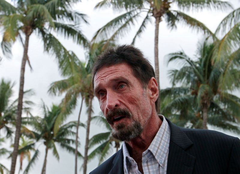 Spain detains software creator McAfee in Barcelona: police source