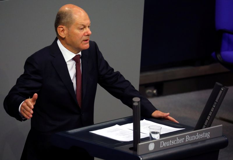 Germany's Scholz expects quick recovery in most parts of economy