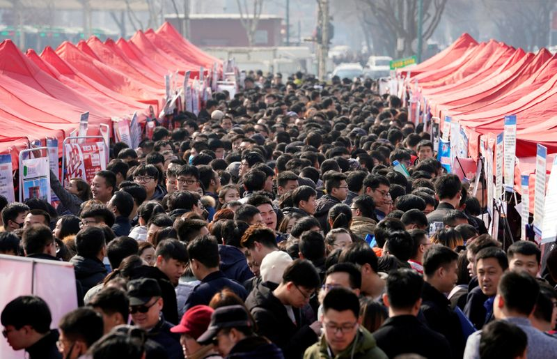 China's cabinet says country still faces great employment pressure -state media