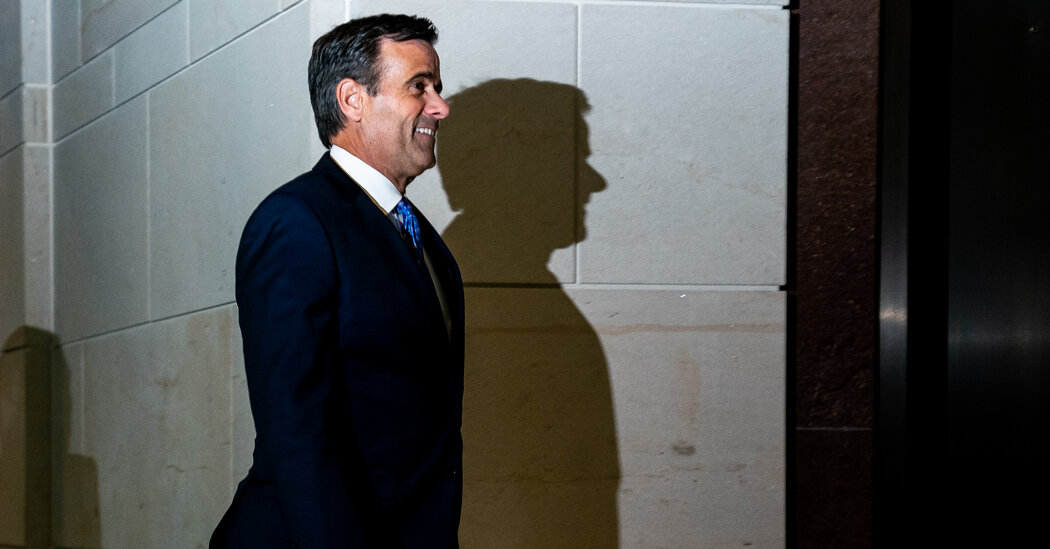 John Ratcliffe Pledged to Stay Apolitical. Then He Began Serving Trump's Political Agenda.