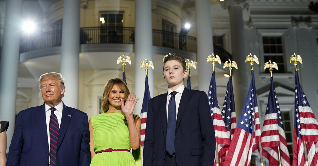 Barron Trump Tested Positive for Coronavirus, Melania Trump Says