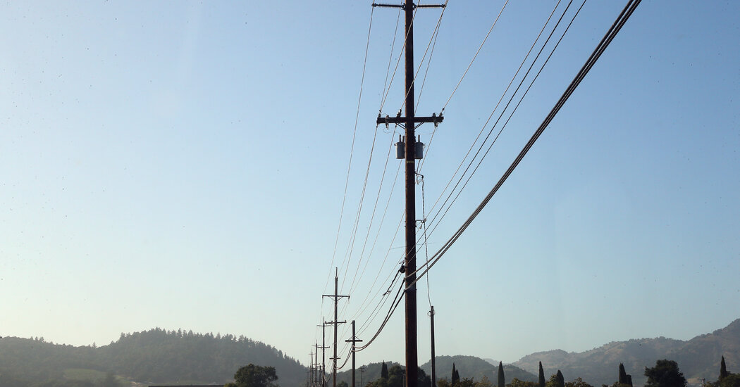 Citing Risk of Wildfires, Utility Plans to Cut Off Power to 50,000 in California