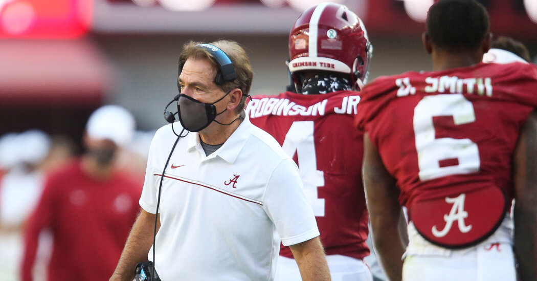Nick Saban Has the Virus. The Runaway Train of College Football Keeps Rolling.