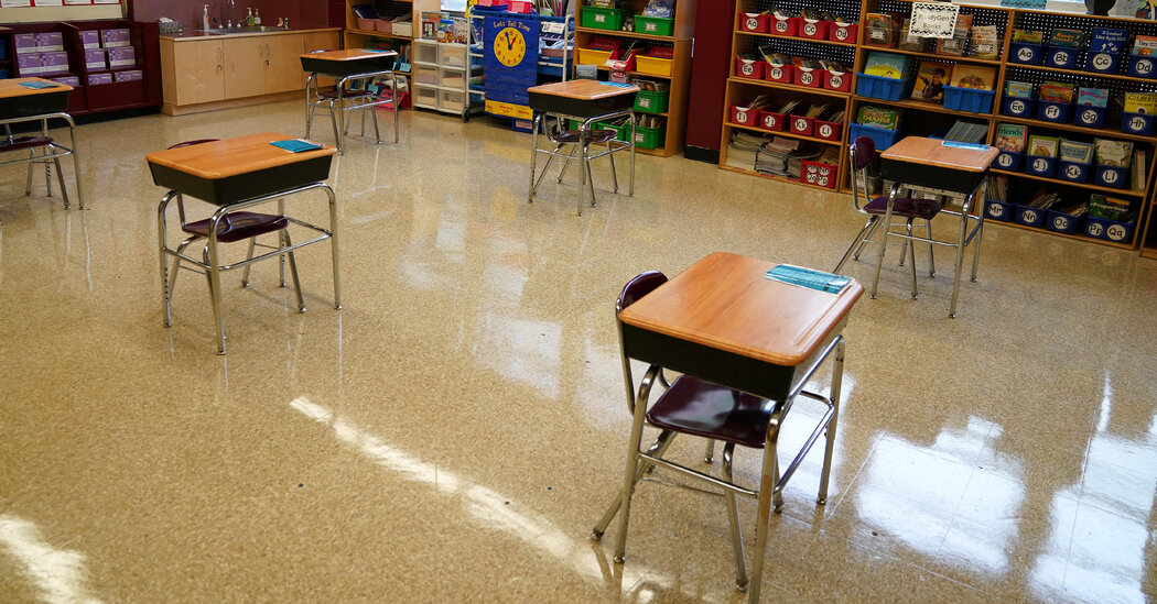 To avoid quarantining students, a school district tries moving them around every 15 minutes.