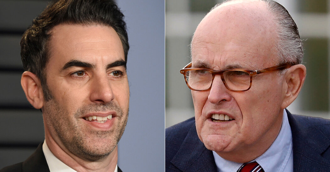 Giuliani denies he did anything wrong in the new 'Borat' movie.